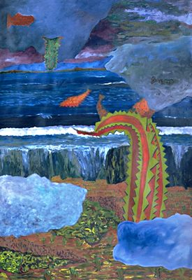pesces, 150 x 200 cm, oil on canvas, 1989