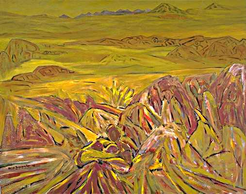 Mother Earth, 100 x 120 cm, oil and acryl on canvas, 1992