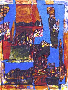 San Pedro de Atacama, acryl on canvas, 90 x 70 cm, 1995