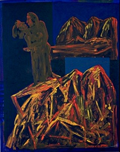 pasion, 100 x 120 cm, acryl on canvas, 1993