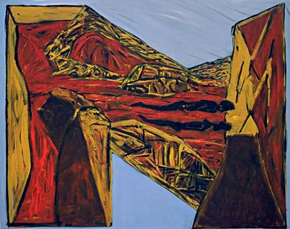signo, 100 x 120 cm, acryl on canvas, 1993